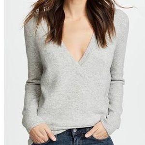 Madewell Wool & Alpaca Wrap Front sweater